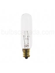 15W - Tubular Clear - Candelabra Base - 145V Exit Light Bulb - Symban