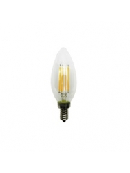 4 Watt LED Filament Lamp- C11 LED - Clear - 5000K Daylight - Candelabra base - 360 Deg. Beam Spread - 300 lumens