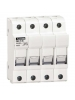 Lovato FB01F3N - Midget Fuse Holder - 3 Poles + N 690V 32A - 10x38 - Pack of 3