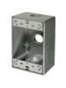 "VISTA 18025 - Weatherproof Metal FS Box - 3 x 1/2"" holes - Grey"