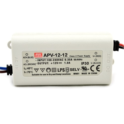 Mean Well APV-12-12 - 12W Single Output Switching LED Power