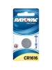 Rayovac CR1616-1 - Lithium Coin Battery - 3 Volt - For Keyless Entry and Remote Controls - CR1616 Size