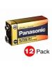 Panasonic 6LF22XWA/C - 9 Volts - Industrial Alkaline Battery - 12 PACKS