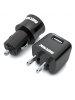 Rayovac PSUSB-2T6 - Dual Car 2.1A USB Charger, Single Wall 1.0A USB Charger - Micro USB Cable, and Apple 30-Pin USB Cable Combo Pack - Black
