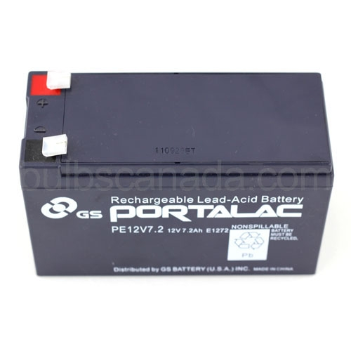 Service Battery Charging System >> GS Battery 12V 7.2Ah