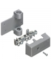 Arlington GB5P - 6 to 2 Grounding Electrode Intersystem Grounding Bridges with PVC Adapter - Zinc (Bridge) / Paintable Plastic (Cover)