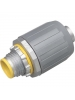 Arlington LT10A - SNAP2IT Connector with Insulated Throat for Liquid-Tight Conduit - Push-On Installation - 1-Inch - Zinc - 5 Packs