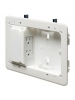 "Arlington TVL508GC - Low Profile TV Box for Shallow Wall Depths - 5"" x 8"" Box - White - Plastic"