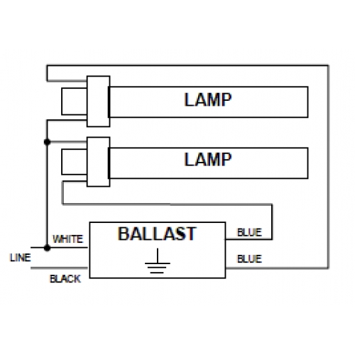 2 x PL-13W GX23 Base - Magnetic Ballast - Etlin  Pin W Ballast Wiring Diagram on