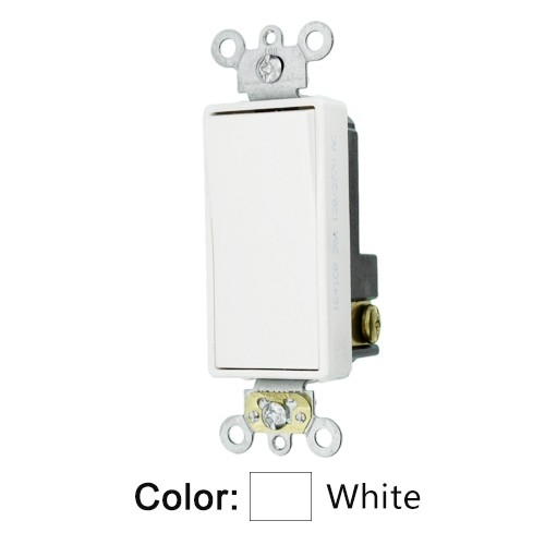 Leviton 5621-2W - Decora Plus Rocker Single-Pole AC Quiet