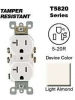 Leviton T5820-T 20 Amp, 125 Volt, Tamper Resistant, Duplex Receptacle, Straight Blade, Residential Grade, Self Grounding, Light Almond