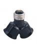 E26 Edison Screw Fitting Splitter Turn 1 E26 Socket into 2 E26 base Socket