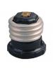 OEM - E26 Lampholder to NEMA 1-15R Receptacle 660W 125V