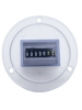 Intermatic Grasslin FWZ72C-120 - AC Hour Meter - Flush Mount - Blue-Silver on Colorless Frosted Polycarbonate - 120V 60Hz