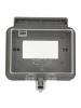 Leviton 5997-CL 1-Gang Raintight While in Use Standard Cover, for Decora or GFCI devices, Horizontal Mount, Gray Base, Clear Cover