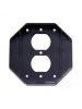 Intermatic WP101 - Specialty Wall Plate - Double Gang Insert for Die Cast and Jumbo Cover - Black