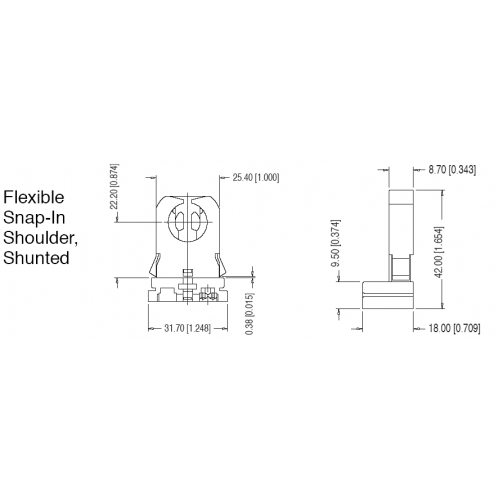 T8 T12 Fl005 Ws Flexible Snap In Shoulder Shunted Low