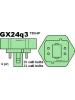 32W Triple Tube 4 Pin GX24q-3 Base 4100K CFL - Major Brand ( Philips / Sylvania / GE )