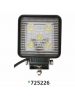 "Techspan 725226 - LED 4-1/2"" Square Tractor/Utility Lamps – 10-30VDC 15W 1500Lumens - Spot - Aluminum - 2 PACKS"