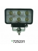 "Techspan 725231 - LED 4"" x 2"" Rectangular Tractor/Utility Lamps – 10-30VDC 18W 1140Lumens - Spot - Aluminum - 2 PACKS"