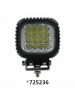 "Techspan 725236 - LED 5"" Square Tractor/Utility Lamps – 9-32VDC 48W 4800Lumens - Spot - Aluminum - 2 PACKS"