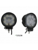 "Techspan 725238 - LED 4-1/2"" Round Tractor/Utility Lamps – 9-32VDC 27W 1710Lumens - Flood - Aluminum - 2 PACKS"