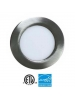"EEL UTLED-6-S12W-3KBN - UltraThin 6"" LED Recessed - 12 Watt - 700 Lumens - 3000K - 1/2"" Thickness - 120V - IC Rated - Brushed Nickel"