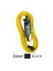 Leviton GFA15-25C - 15A - 120V - 2P - 3W - 25 ft. Cord Set - Straight Blade - Automatic Reset GFCI Device - Black