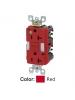 Leviton GFNL2-HGR - 20A - 125 V - NEMA 5-20R - SmartlockPro Slim Guidelight Self-Test GFCI Receptacle - 20 Amp Feed-Through - Tamper-Resistant - Hospital Grade - Red