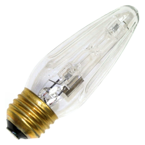 philips watt v f medium base k clear decorative halogena stylized flame bulb
