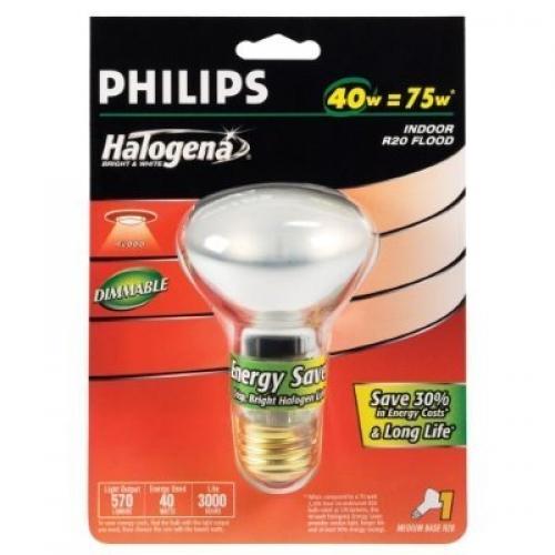 Philips 40 Watt R20 Halogena Energy Saver Flood Light