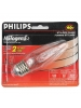 Philips 388959 - 40 Watt 120V F10.5 - Medium Base 2900K Clear Decorative Halogena Stylized Flame Bulb