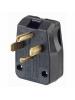 Leviton 275-T - Straight Blade Plug - 30/50 Amp - 125/250 Volt - NEMA 14-30P/14-50P - Commercial Grade - Black
