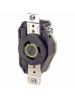 Leviton 2310 - 20 Amp - 125 Volt - NEMA L5-20R - Flush Mtg Locking Receptacle - Industrial Grade - Black