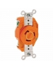 Leviton 2330-IG - 20 Amp - 277 Volt - NEMA L7-20R - Flush Mtg Locking Receptacle - Industrial Grade - Orange