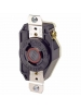 Leviton 2340 - 20 Amp - 480 Volt - NEMA L8-20R - Flush Mtg Locking Receptacle - Industrial Grade - Black