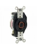 Leviton 2360 - 20 Amp - 125/250 Volt - NEMA L10-20R - Flush Mtg Locking Receptacle - Industrial Grade - Black