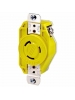Leviton 23CM-10 - 20 Amp - 125 Volt - NEMA L5-20R - Flush Mtg Locking Receptacle - Industrial Grade - Yellow