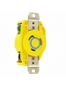 Leviton 23CM-20 - 20 Amp - 250 Volt - NEMA L6-20R - Flush Mtg Locking Receptacle - Industrial Grade - Yellow