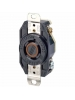 Leviton 2410 - 20 Amp - 125/250 Volt - NEMA L14-20R - Flush Mtg Locking Receptacle - Industrial Grade - Black