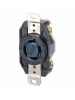 Leviton 2420 - 20 Amp - 250 Volt - NEMA L15-20R - Flush Mtg Locking Receptacle - Industrial Grade - Black