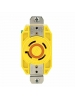 Leviton 24CM-20 - 20 Amp - 250 Volt 3-Phase - NEMA L15-20R - Flush Mtg Locking Receptacle - Industrial Grade - Yellow