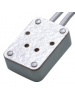 G4/GU5.3/GY6.35 Rectangular socket c/w side leads