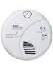 BRK 7010BA - 120V AC Wire-in with 9 Volt Battery Backup - Photoelectric Sensor Smoke Alarm with Test Button - Interconnectable Up to 18 Devices