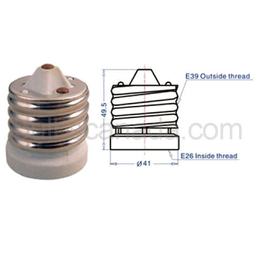 e39 e26 mogul to medium base reducer