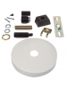 White Sloped Ceiling Canopy Kit - Single Circuit 2 Wire Track System - Liteline CN6250-SL-WH