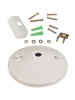 White Ceiling Canopy Kit - Single Circuit 2 Wire Track System - Liteline CN6250-WH