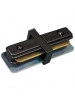 Black I-Connector - Single Circuit 2 Wire Track System - Liteline IC6101-BK