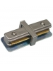 Brushed Nickel I-Connector - Single Circuit 2 Wire Track System - Liteline IC6101-BN