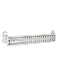Liteline J-FT03124HO-WH - Single 24W T5 High Output Fluorescent Track Fixture - 120V - White - Juno Style Track